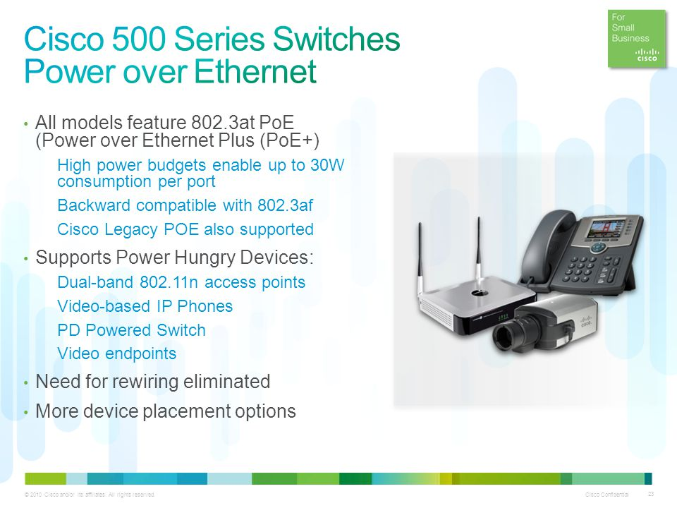 Cisco 500 Series Switches Power over Ethernet