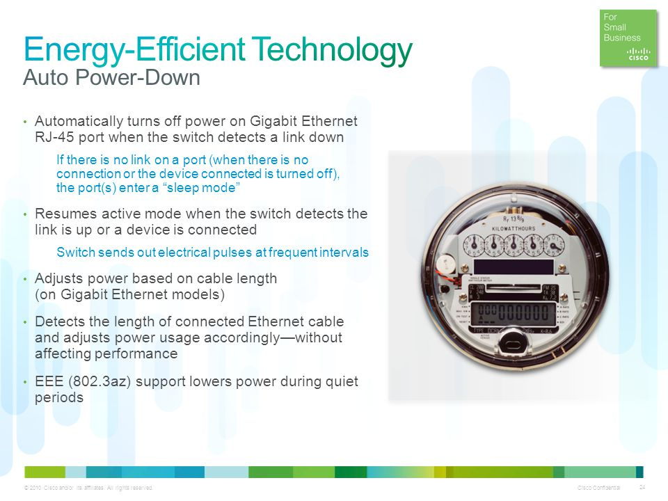 Energy-Efficient Technology Auto Power-Down