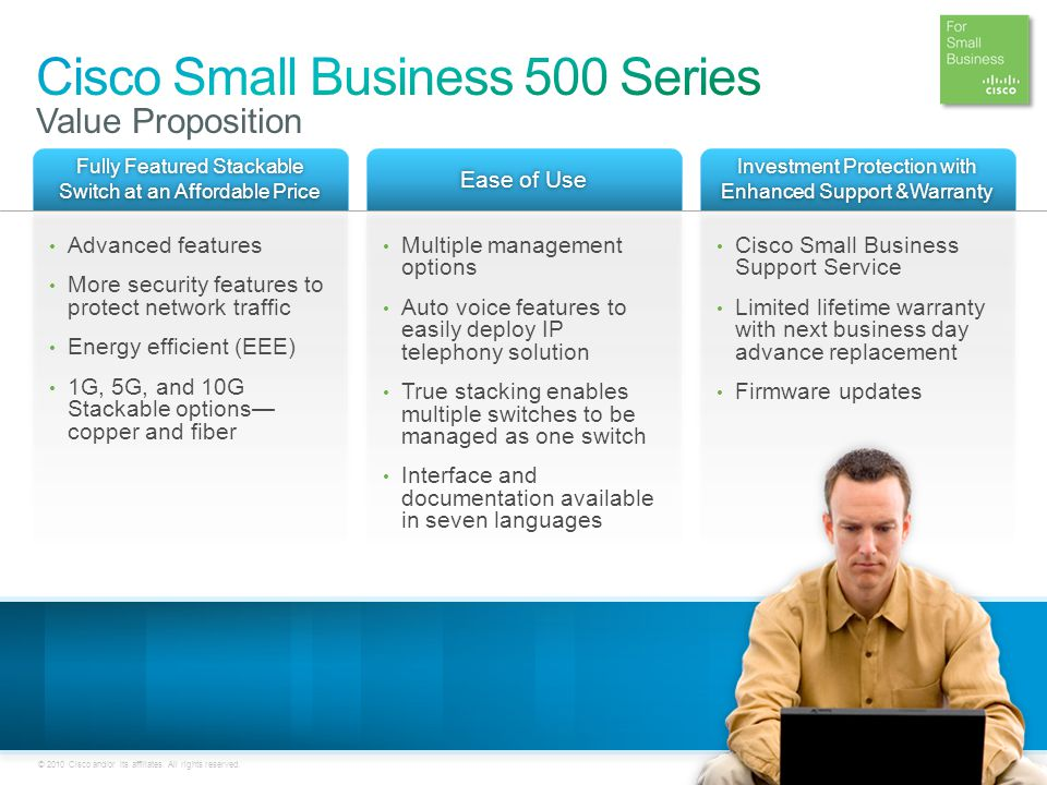 Cisco Small Business 500 Series Value Proposition