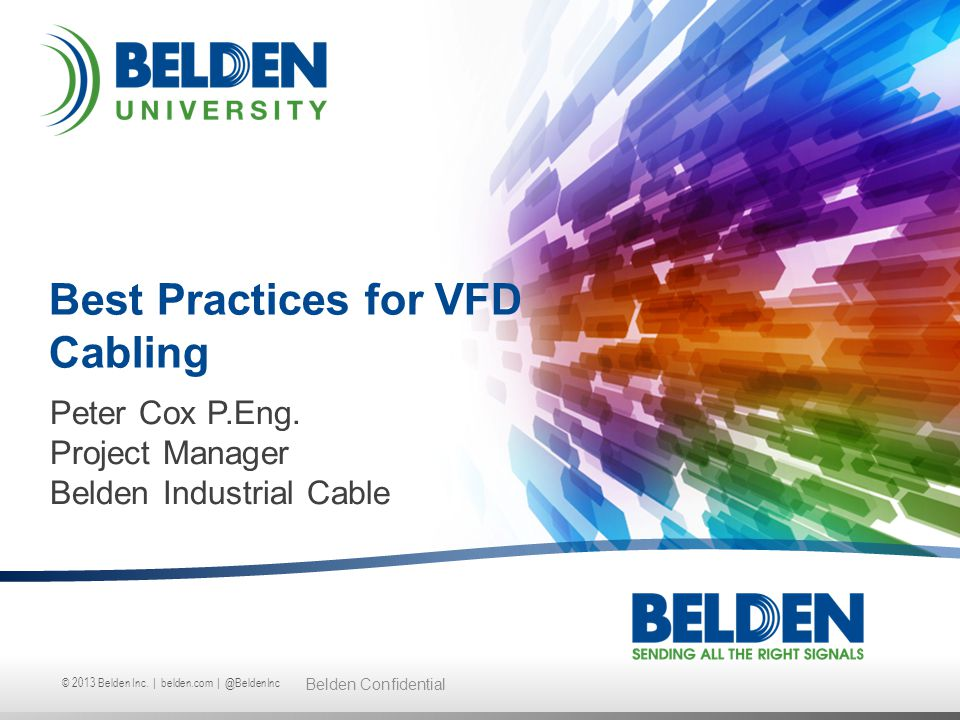 Best Practices for VFD Cabling