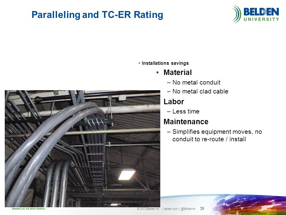 Paralleling and TC-ER Rating