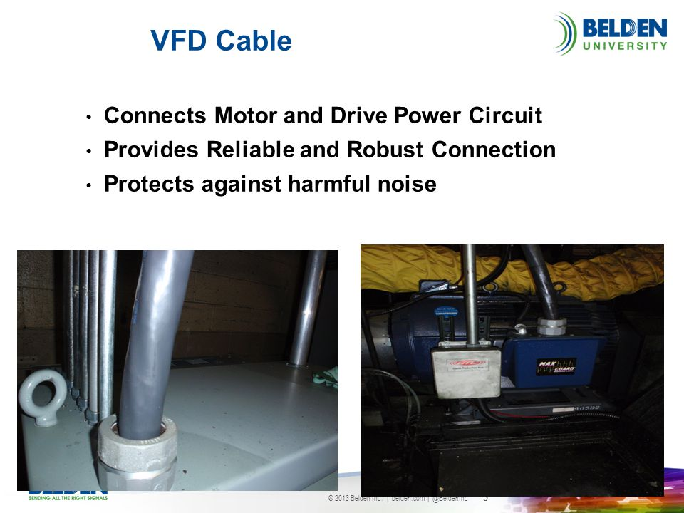 VFD Cable Connects Motor and Drive Power Circuit