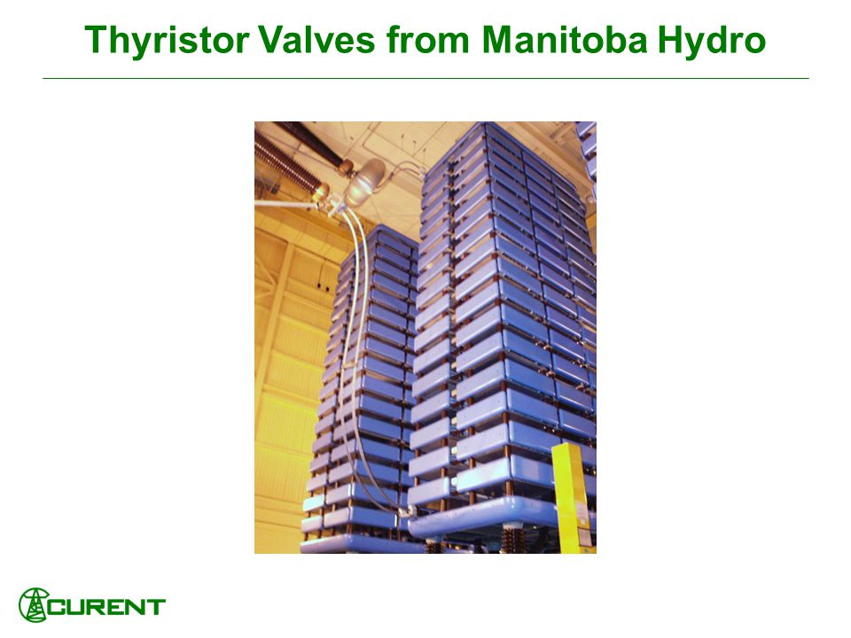 Thyristor Valves from Manitoba Hydro