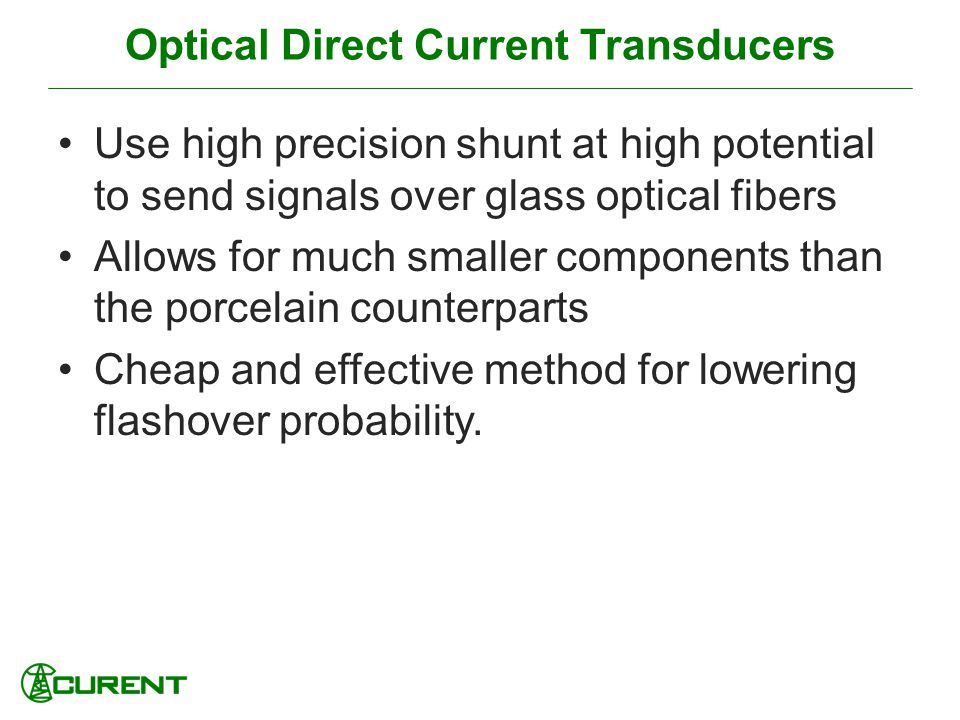 Optical Direct Current Transducers