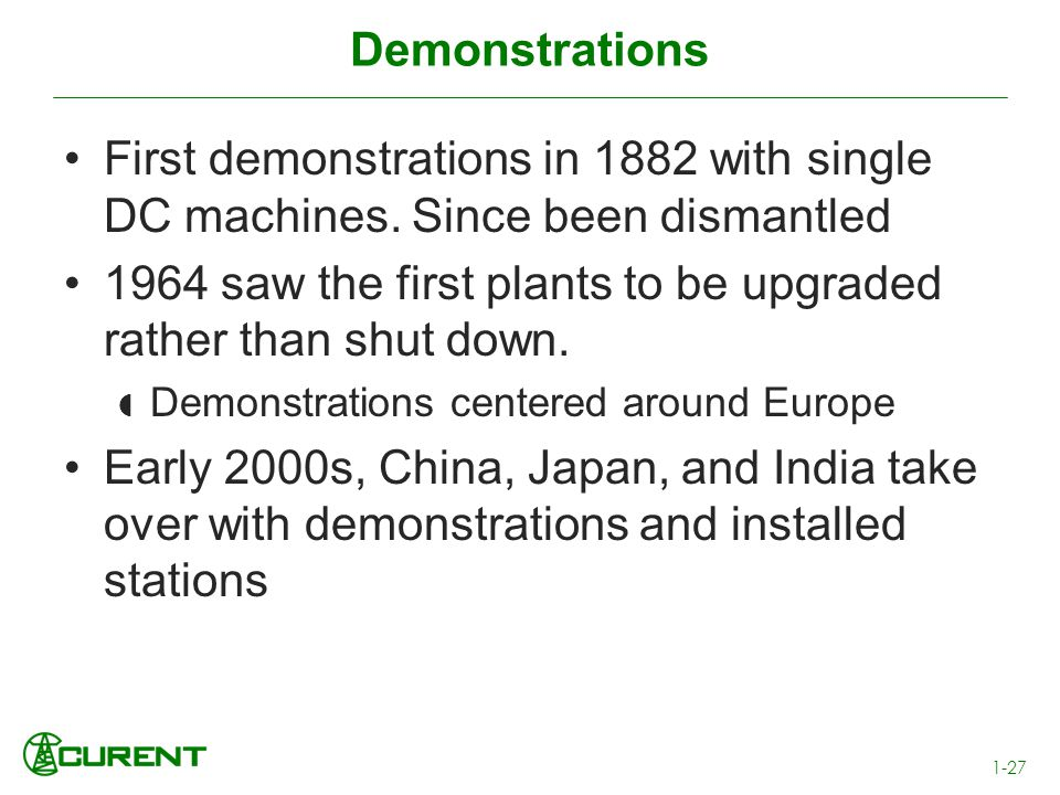 1964 saw the first plants to be upgraded rather than shut down.