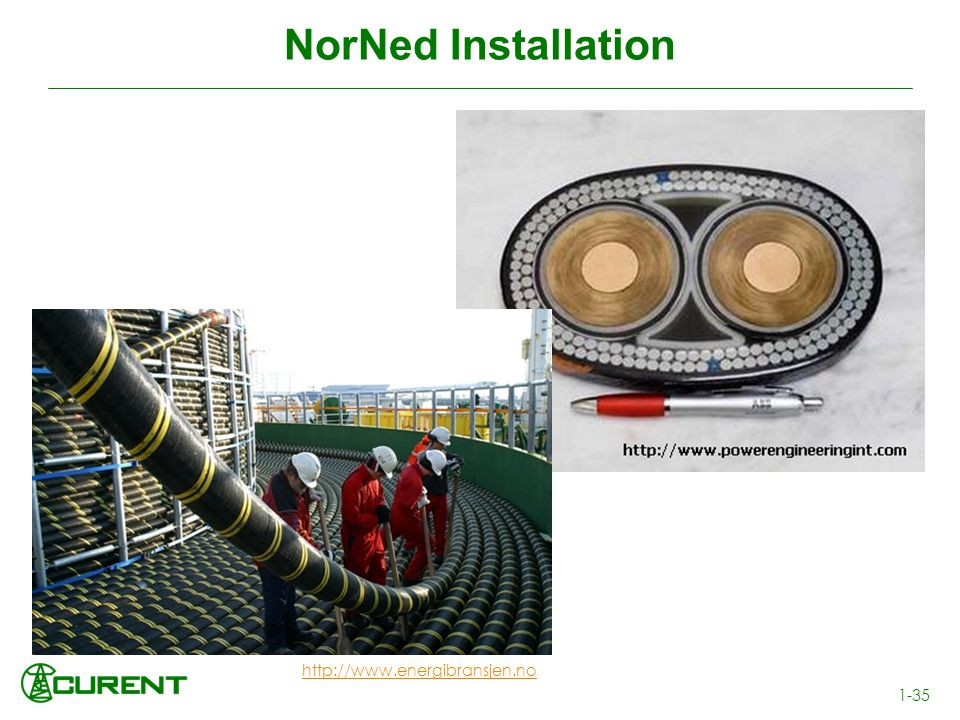 NorNed Installation http://www.energibransjen.no