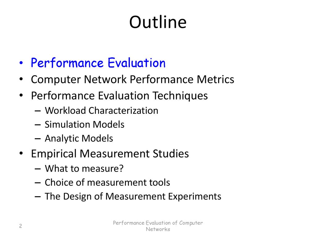 Performance Evaluation of Computer Networks - ppt download