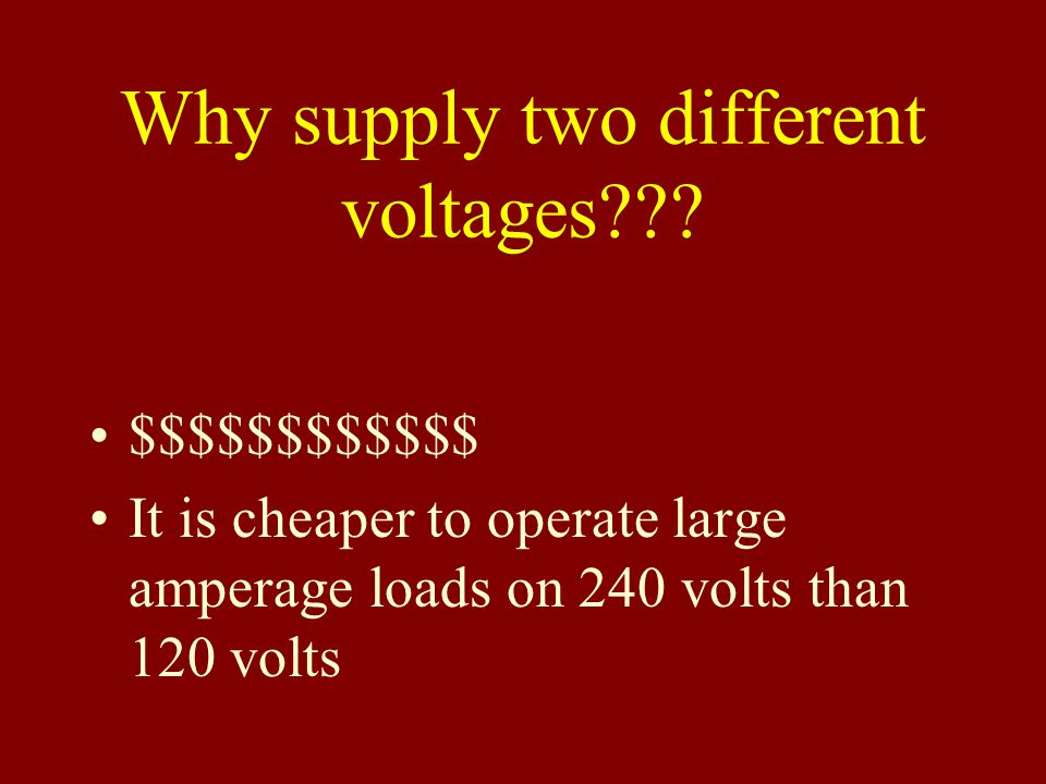 Why supply two different voltages