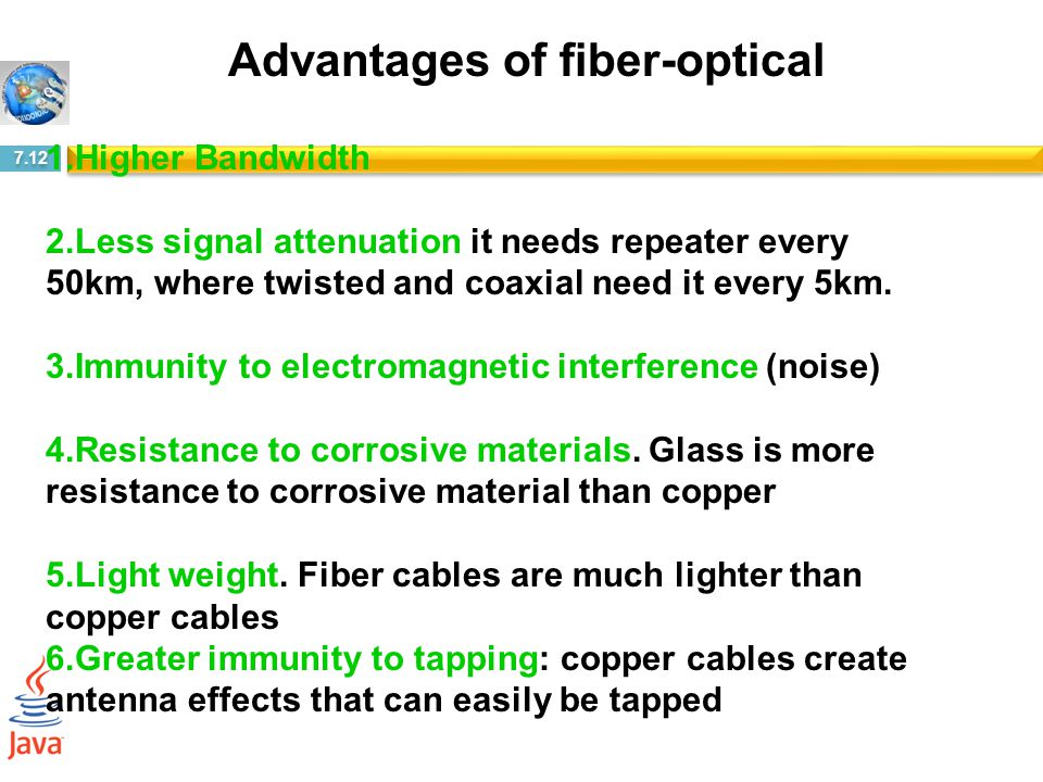Advantages of fiber-optical