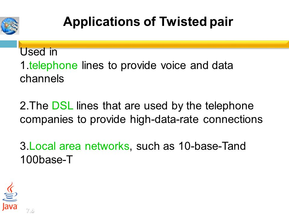 Applications of Twisted pair
