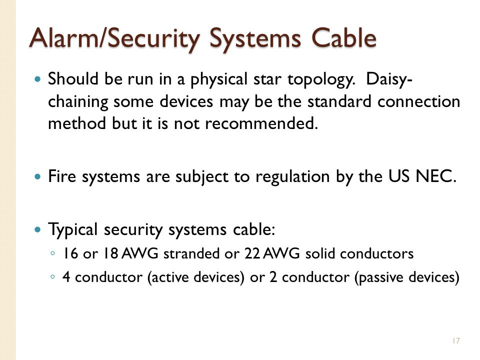 Alarm/Security Systems Cable
