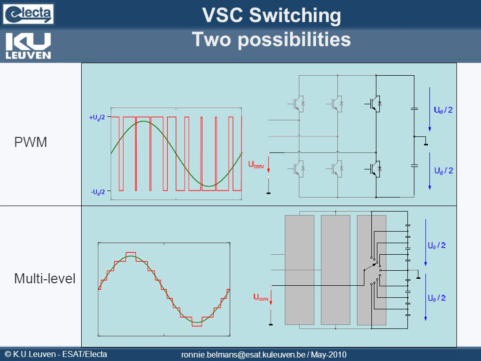 VSC Switching Two possibilities