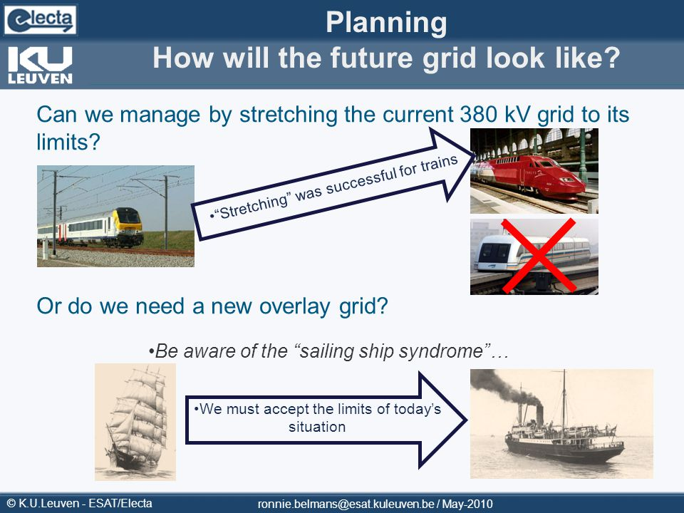 Planning How will the future grid look like
