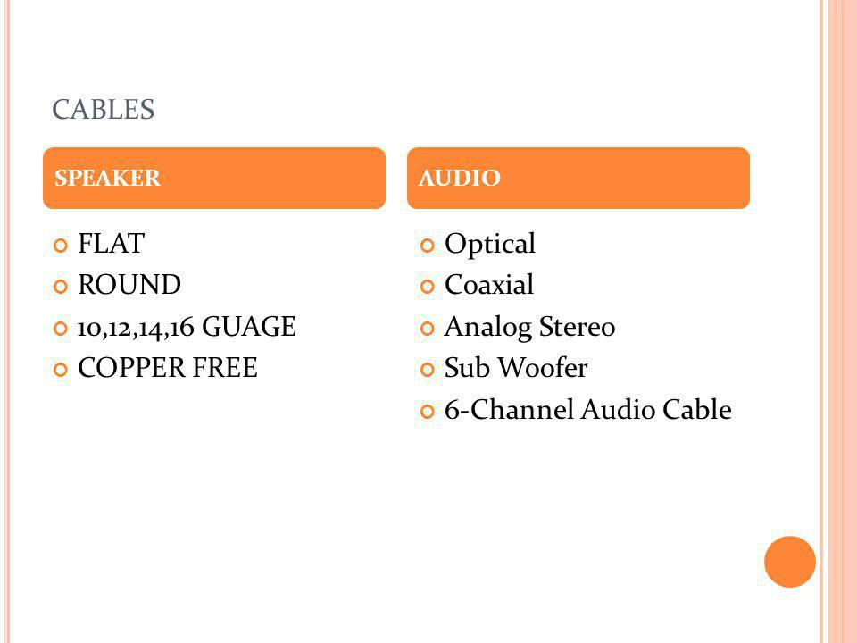 cables FLAT ROUND 10,12,14,16 GUAGE COPPER FREE Optical Coaxial