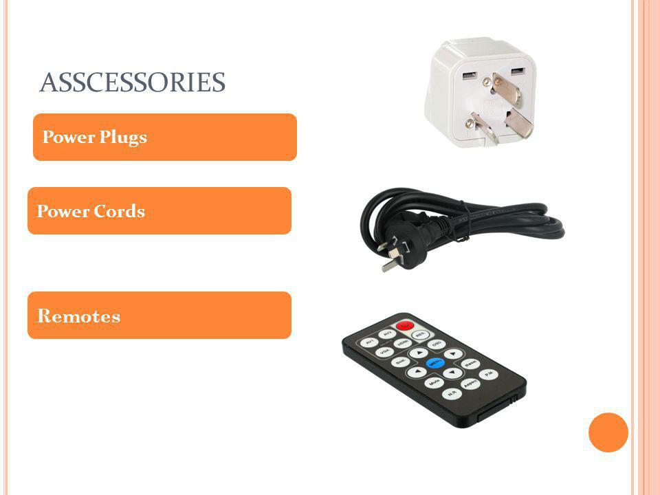 ASSCESSORIES Power Plugs Power Cords Remotes