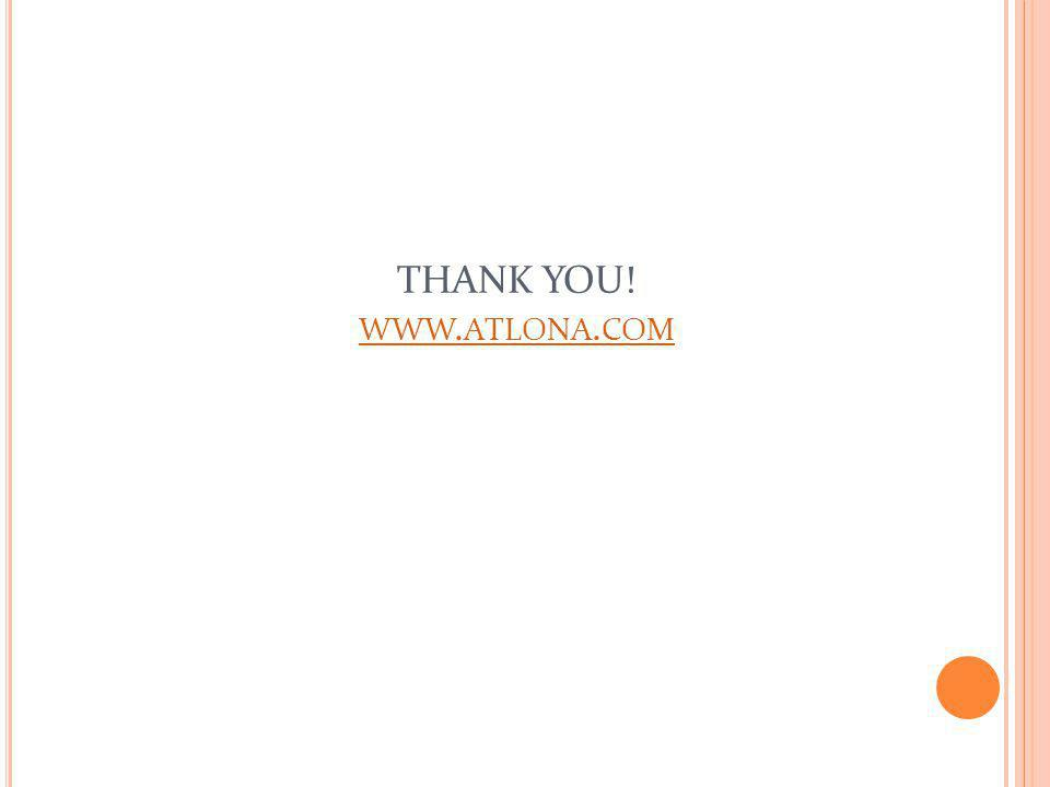 THANK YOU! www.atlona.com