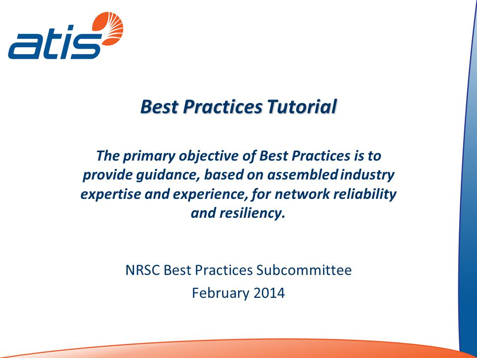 Best Practices Tutorial