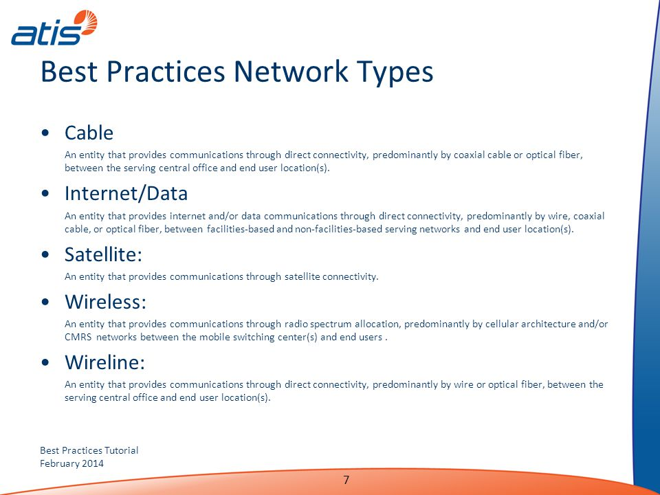 Best Practices Network Types