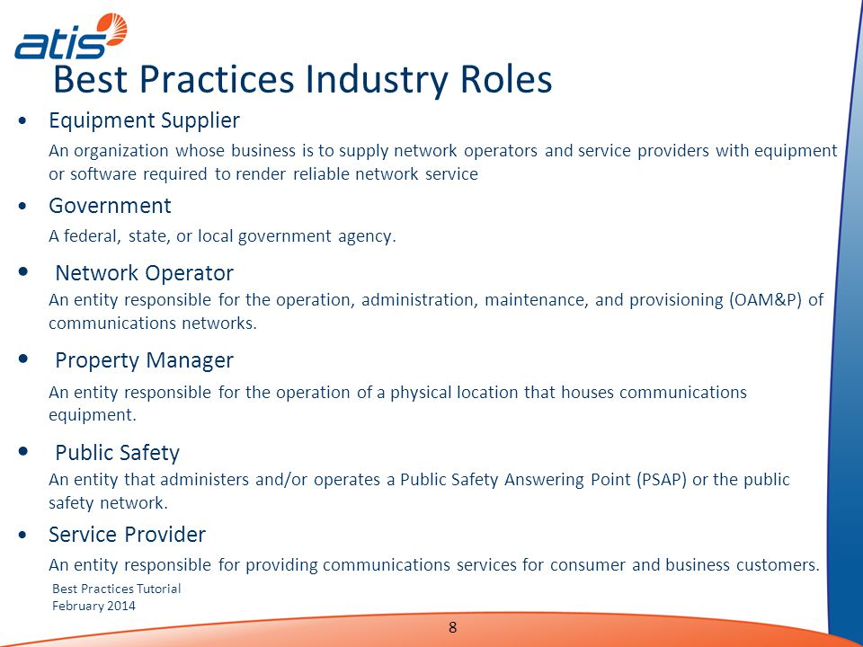 Best Practices Industry Roles