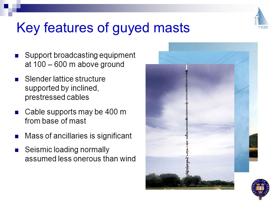 Key features of guyed masts