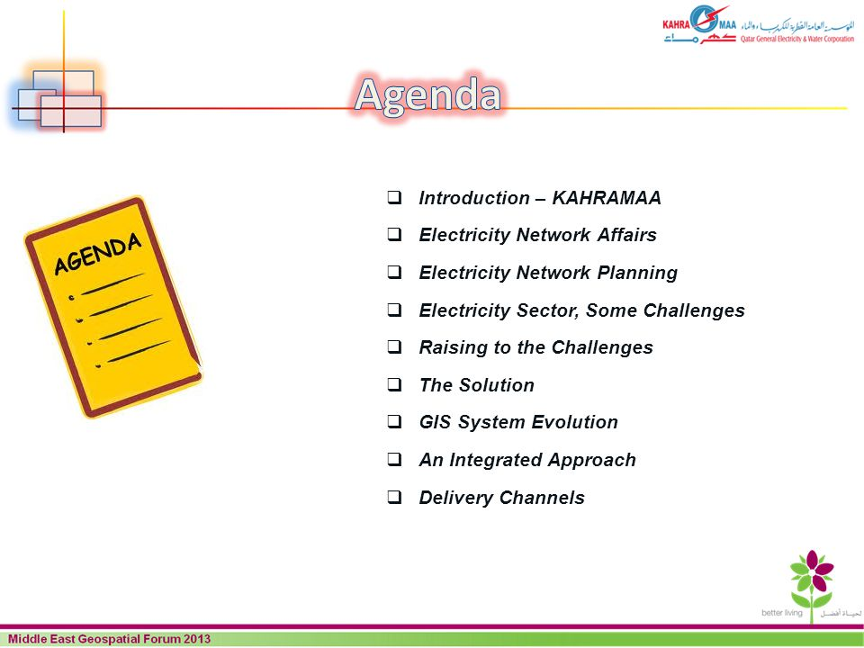 Agenda Introduction – KAHRAMAA Electricity Network Affairs