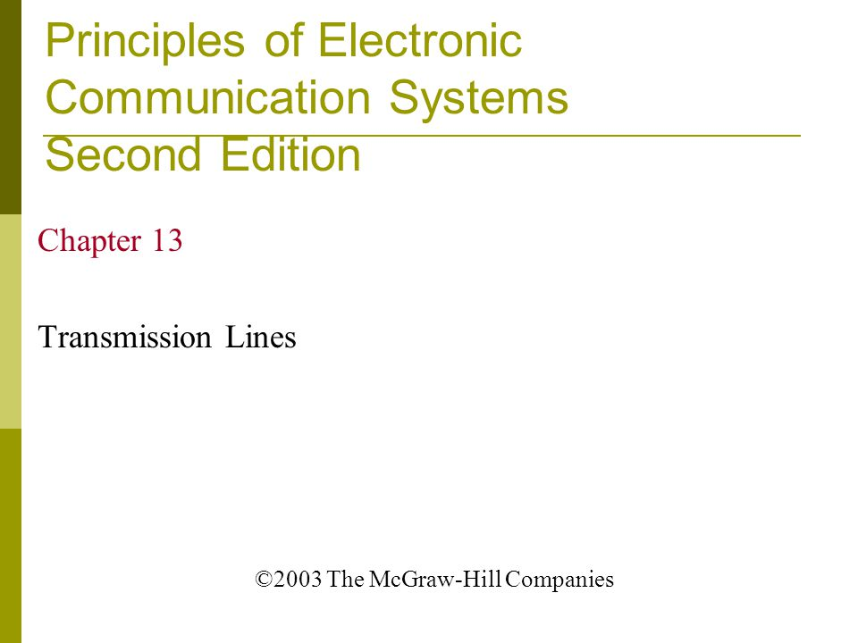 Principles of Electronic Communication Systems Second Edition