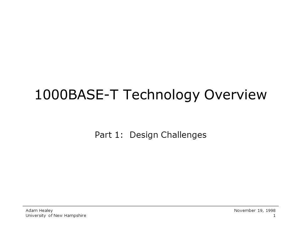 1000BASE-T Technology Overview