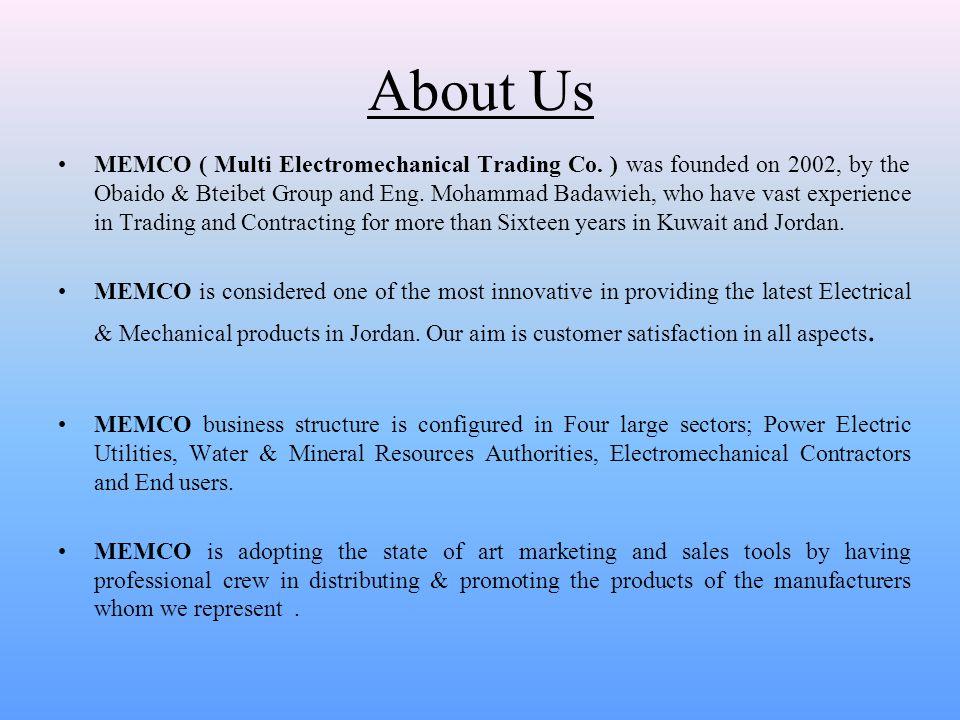 COMPANY PROFILE MEMCO Multi Electromechanical Trading - ppt video