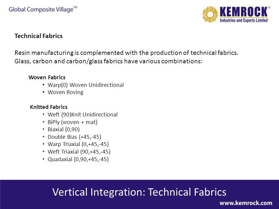 Vertical Integration: Technical Fabrics