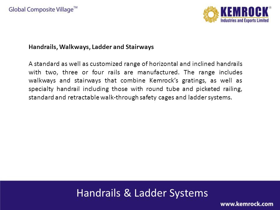 Handrails & Ladder Systems