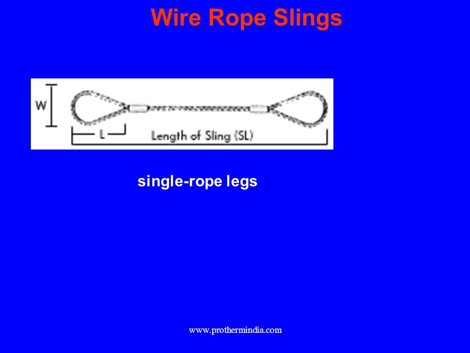 Wire Rope Slings single-rope legs www.prothermindia.com