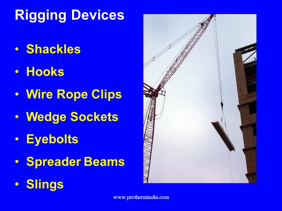 Rigging Devices Shackles Hooks Wire Rope Clips Wedge Sockets Eyebolts