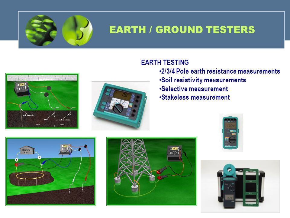 EARTH / GROUND TESTERS EARTH TESTING
