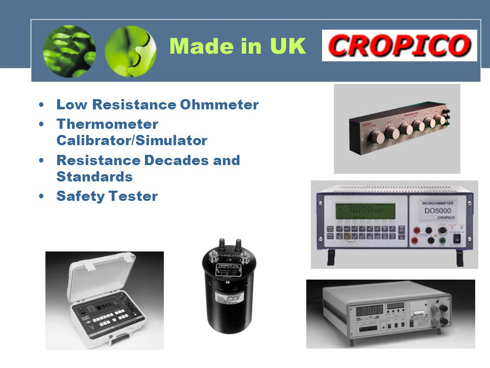 Made in UK Low Resistance Ohmmeter Thermometer Calibrator/Simulator