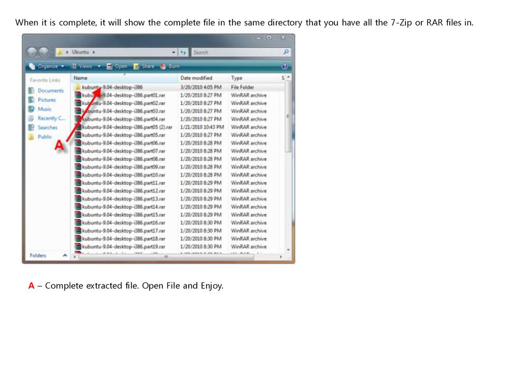 opening rar file in ubuntu