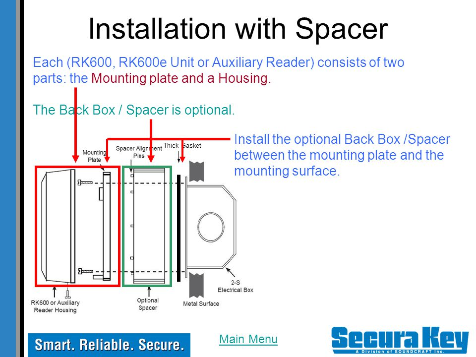 Installation with Spacer