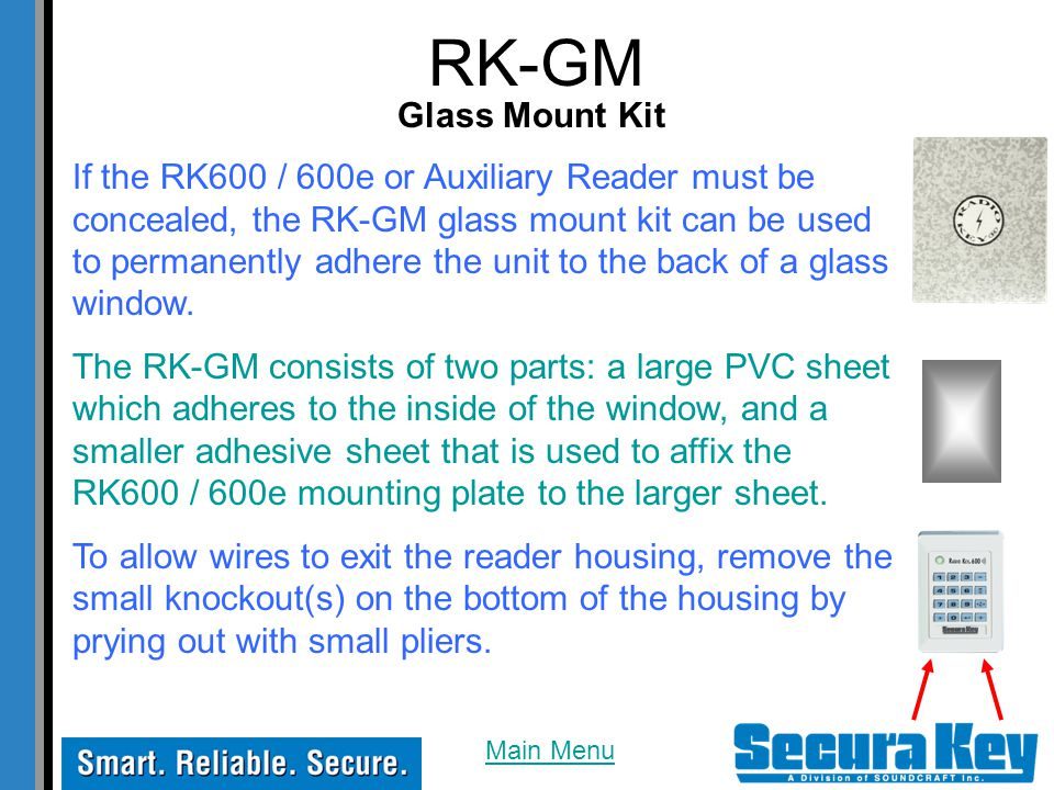 RK-GM Glass Mount Kit.