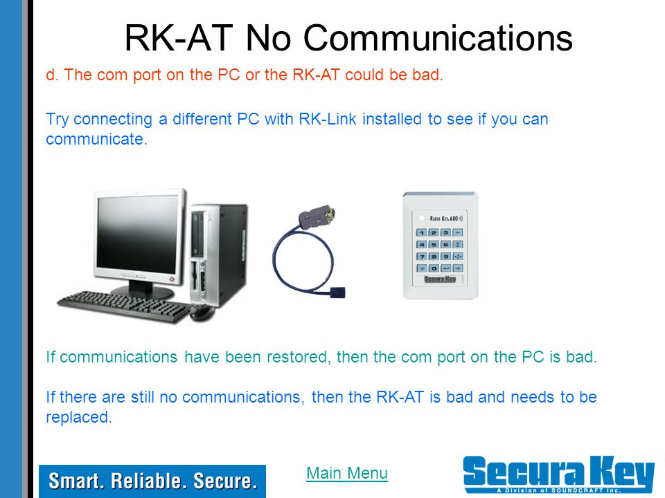 RK-AT No Communications