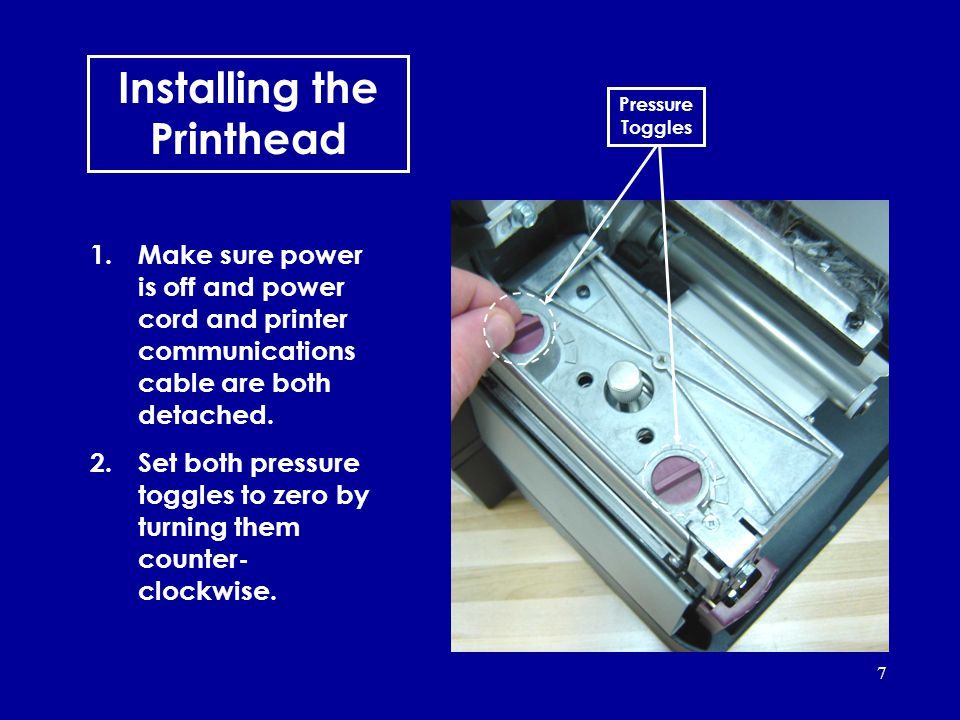 Installing the Printhead