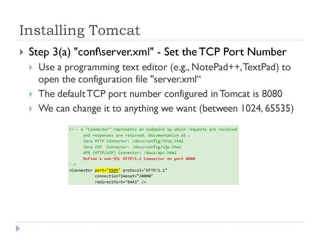 Installing Tomcat  - ppt download
