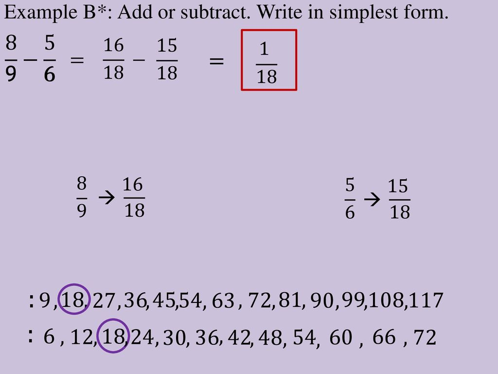 simplest form 9/18  Unit 10. Day ppt download