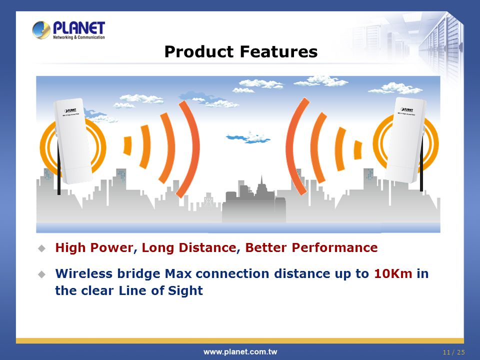Product Features High Power, Long Distance, Better Performance