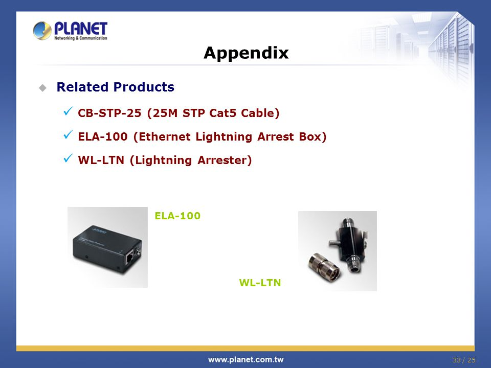 Appendix Related Products CB-STP-25 (25M STP Cat5 Cable)