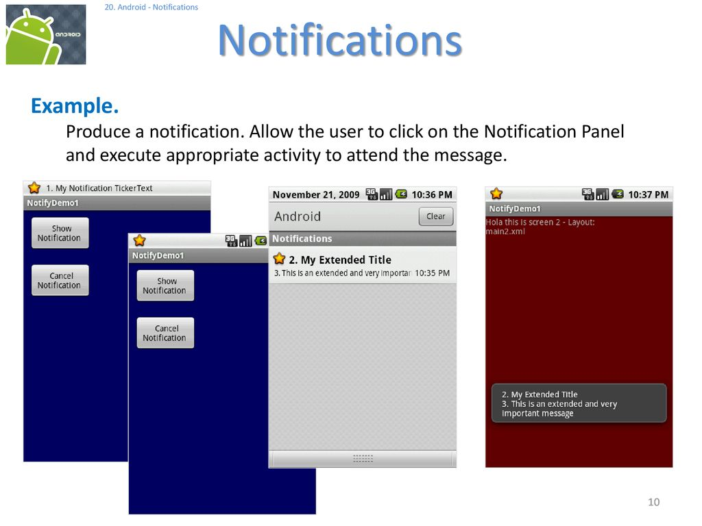 Android Notifications - ppt download