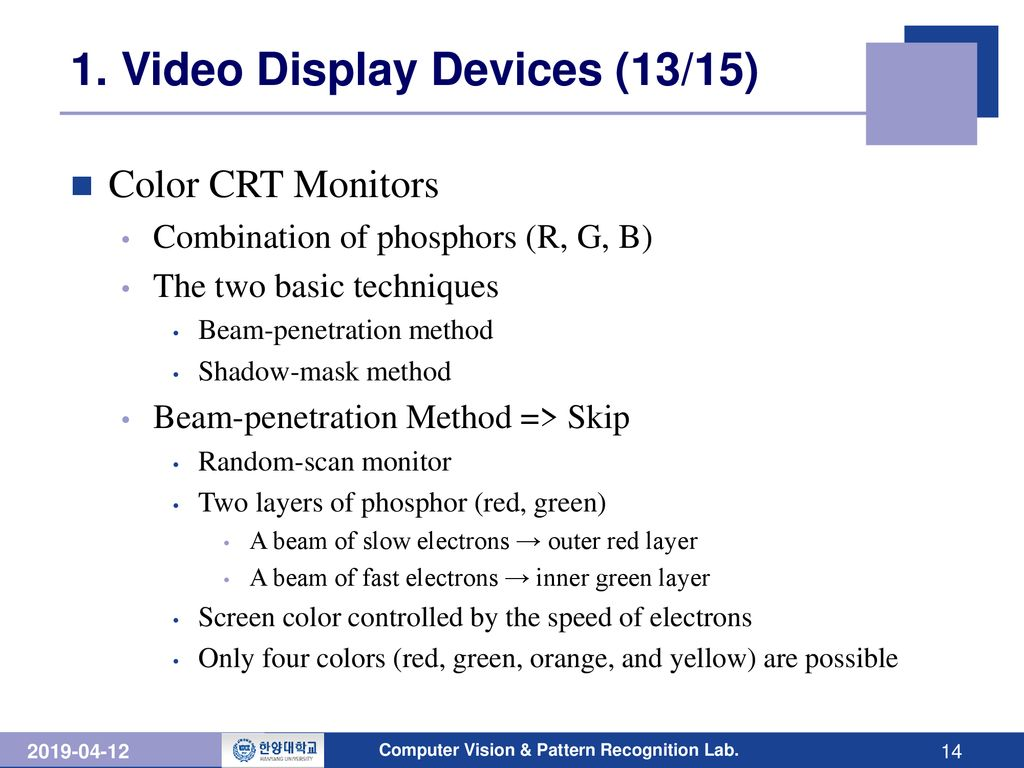 Chapter 2 Overview of Graphics Systems - ppt download