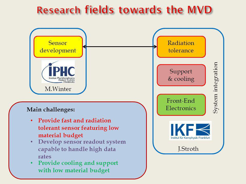 Research fields towards the MVD