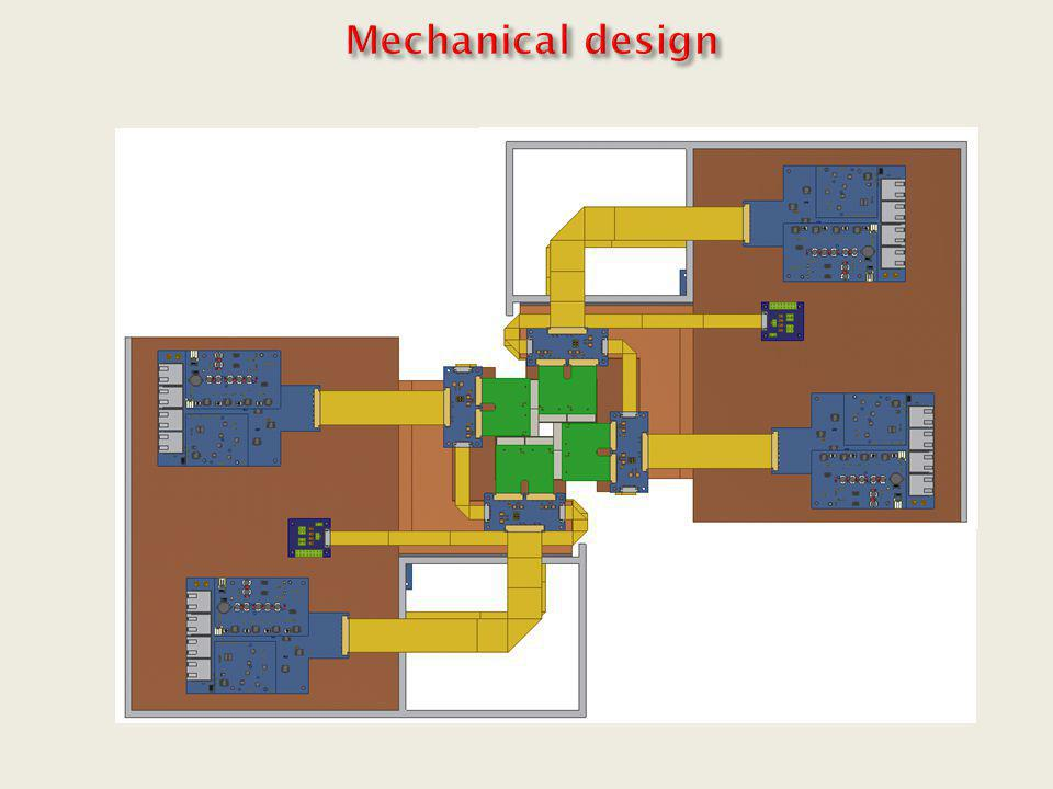 Mechanical design Sensor Cu heat sink CVDD 300µm R/O Flex Cable
