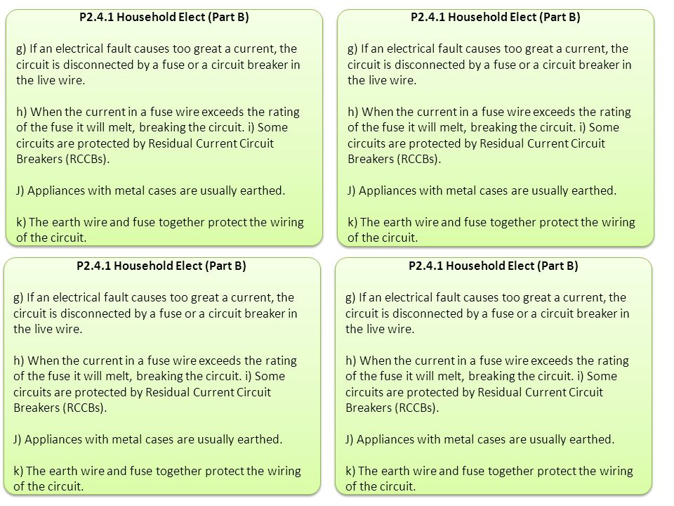 P2.4.1 Household Elect (Part B)