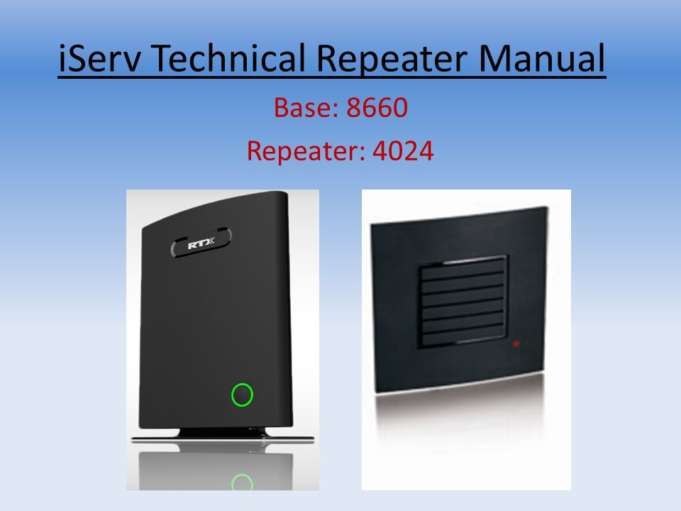 iServ Technical Repeater Manual