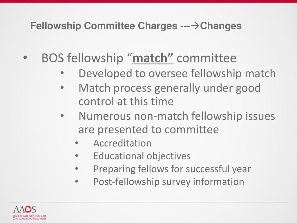 BOS Fellowship Committee Director of Sports Medicine - ppt download